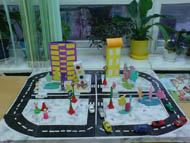 Макет дорога в детский сад